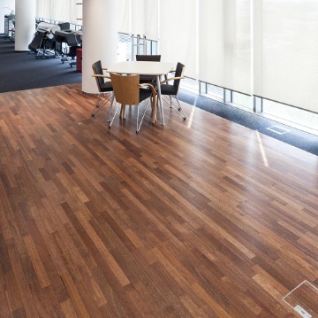 An office floor with space for graphics