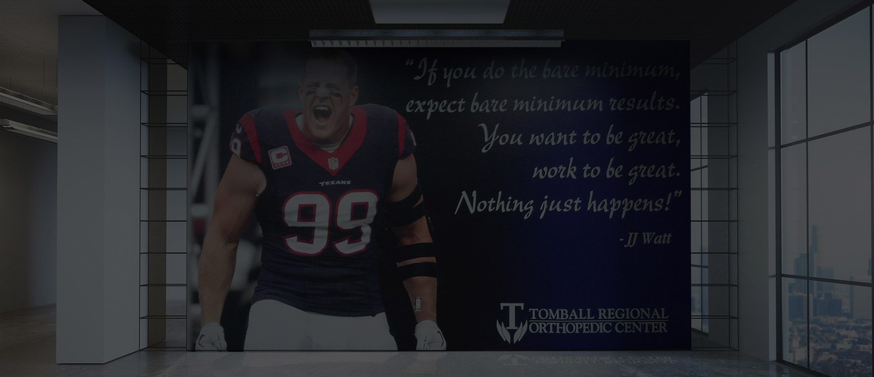 Houston Texans interior graphic on a wall